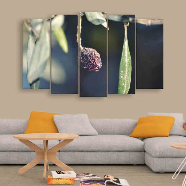 Multiple Frames Beautiful Olive Wall Painting (150cm X 76cm)