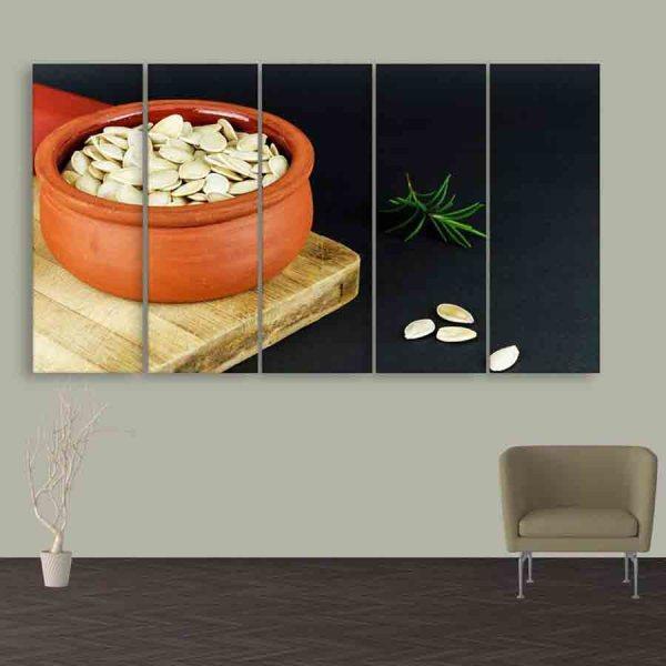 Multiple Frames Pumpkin Seeds Wall Painting (150cm X 76cm)