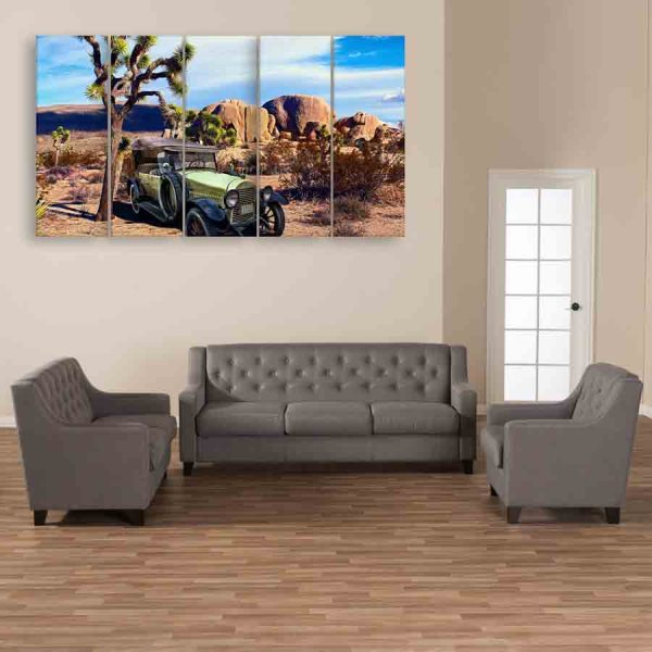 Multiple Frames Beautiful Scenery Wall Painting (150cm X 76cm)
