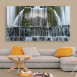 Multiple Frames Beautiful Water Fountain Wall Painting (150cm X 76cm)
