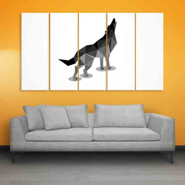 Multiple Frames Wolf Wall Painting (150cm X 76cm)