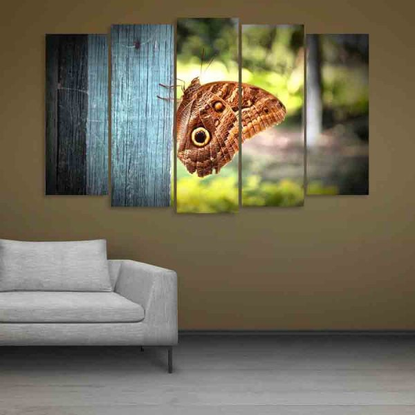 Multiple Frames Beautiful Butterfly Wall Painting (150cm X 76cm)
