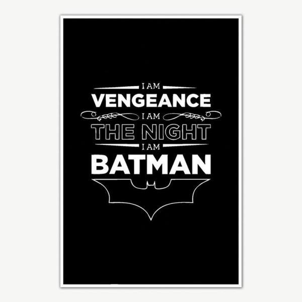 The Dark Knight Trilogy I Am Batman Quote Poster Art