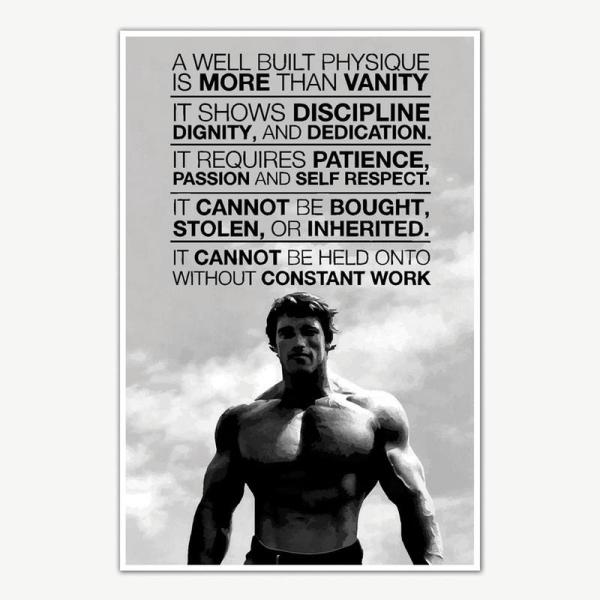 Arnold Schwarzenegger Gym Quotes Poster Art   Gym Motivation Posters