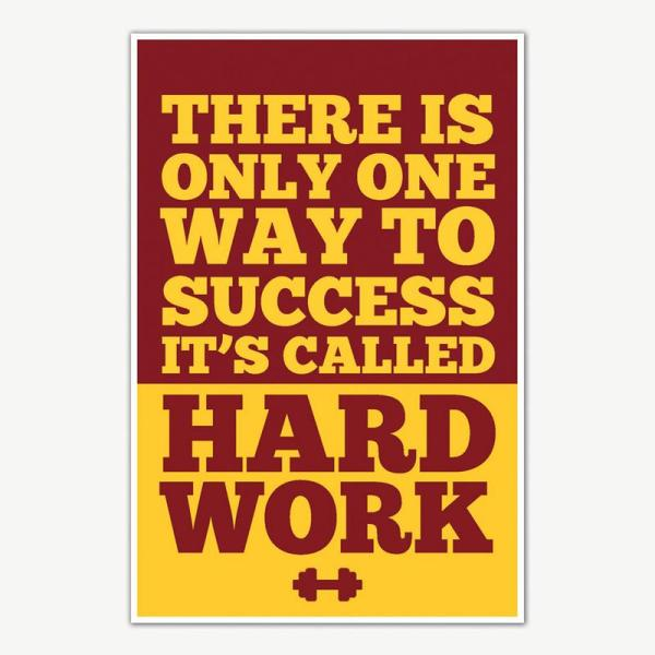 Hard Work Gym Quotes Poster Art   Gym Motivation Posters
