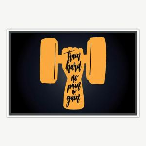 Train Hard Fitness Poster Art | Gym Motivation Posters