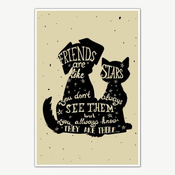Friends Are Like Stars Poster For Room   Inspirational Posters