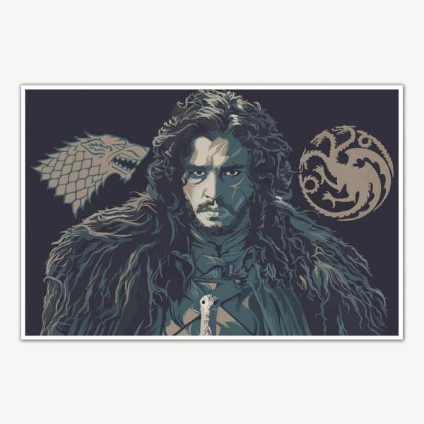 Jon Snow Poster Art | Game Of Thrones Posters For Room