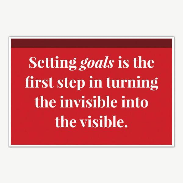 Setting Goals Quote Poster   Motivational Posters For Room
