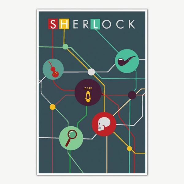 Sherlock TV Series Poster   Sherlock Holmes Posters
