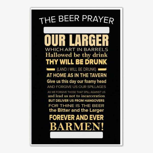 The Beer Prayer Poster Art   Funny Posters For Room
