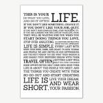 This Is Your Life Quotes Poster Art   Motivational Posters For Room