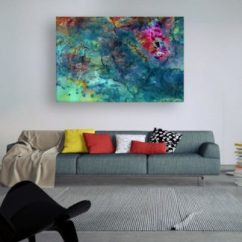 Paintings For Living Room Navy Blue And Gray Ideas Canvas Painting Beautiful Church Art Wall Modern Abstract
