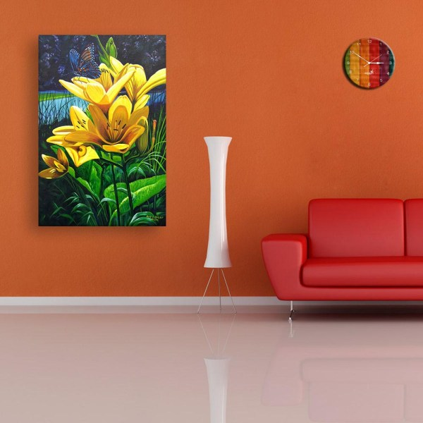 Canvas Painting - Beautiful Floral Flower Wall Painting for Living Room