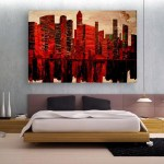 Canvas Painting - Modern City Art Wall Painting for Living Room