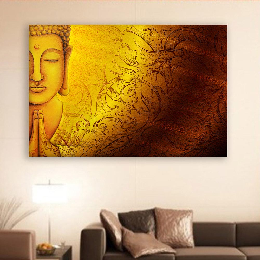Canvas Painting  Beautiful Buddha Religious Art Wall