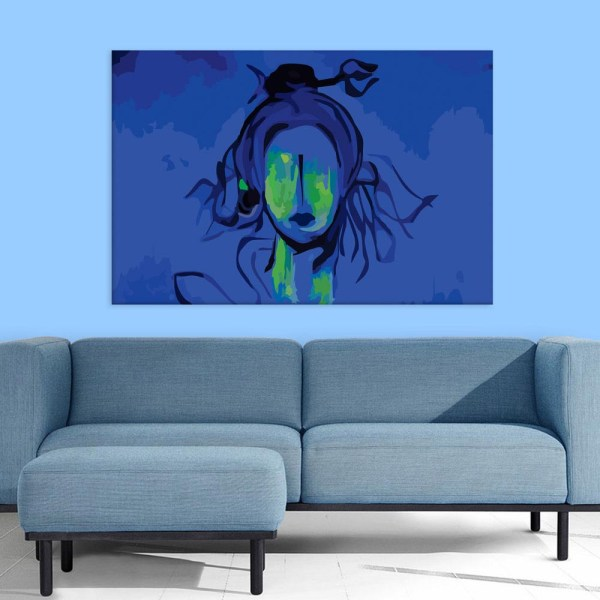 Canvas Painting - Beautiful Lord Shiva Art Wall Painting for Living Room