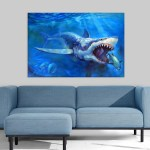 Canvas Painting - Beautiful Shark Art Wall Painting for Living Room