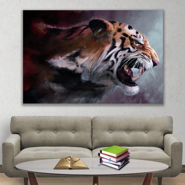 Canvas Painting - Beautiful Tiger Wildlife Art Wall Painting for Living Room