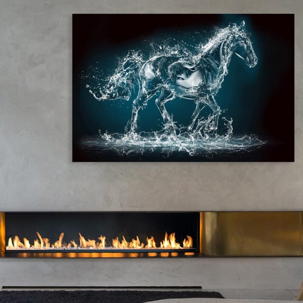 Canvas Painting - Beautiful Running Horse Art Wall Painting for Living Room