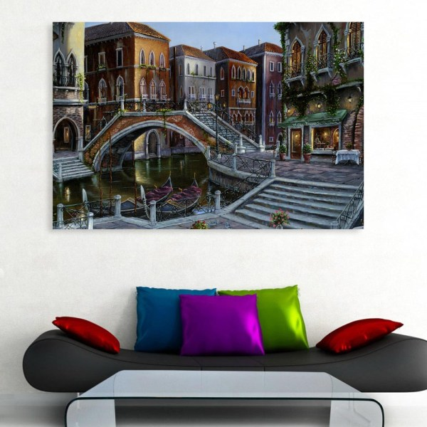 Canvas Painting - Beautiful City Landscape Art Wall Painting for Living Room