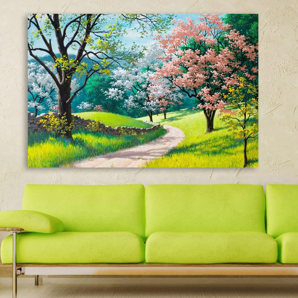 Beautiful Nature Modern Art Wall, Long Painting For Living Room
