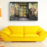 Canvas Painting - Beautiful Ancient Gate Art Wall Painting for Living Room