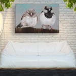 Canvas Painting - Beautiful Birds Art Wall Painting for Living Room