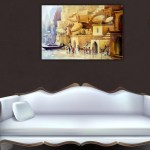 Canvas Painting - Beautiful Riverside View Art Wall Painting for Living Room
