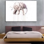 Canvas Painting - Beautiful Elephant Art Wall Painting for Living Room