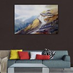Canvas Painting - Beautiful Buddhist Monastry in Mountains Art Wall Painting for Living Room