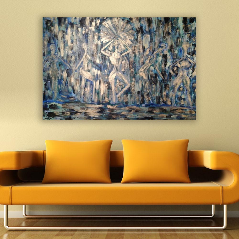 Canvas Painting Modern Women Abstract Art Wall Painting For Living ...