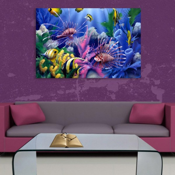 Canvas Painting - Beautiful Ocean Wildlife Art Wall Painting for Living Room