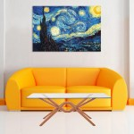 Canvas Painting - Beautiful Starry Night Art Wall Painting for Living Room