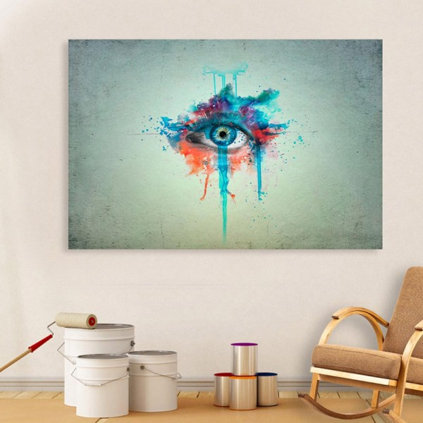 Canvas Painting - Beautiful Eye Art Wall Painting for Living Room