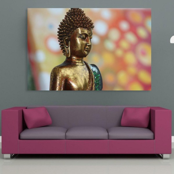 Canvas Painting - Beautiful Buddha Religious Art Wall Painting for Living Room