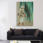 Canvas Painting - Beautiful Old Man  Art Wall Painting for Living Room