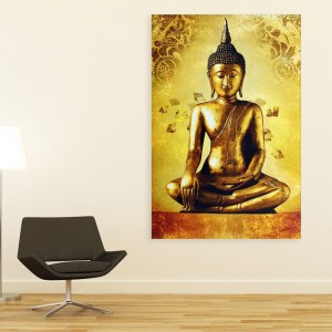 Canvas Painting – Beautiful Buddha Religious Art Wall Painting for Living Room, Bedroom, Office, Hotels, Drawing Room (61cm X 91cm)
