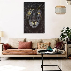 Canvas Painting - Beautiful Lion Art Wall Painting for Living Room