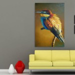 Canvas Painting - Beautiful Bird Art Wall Painting for Living Room