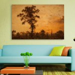 Canvas Painting - Beautiful Ancient Tree Art Wall Painting for Living Room