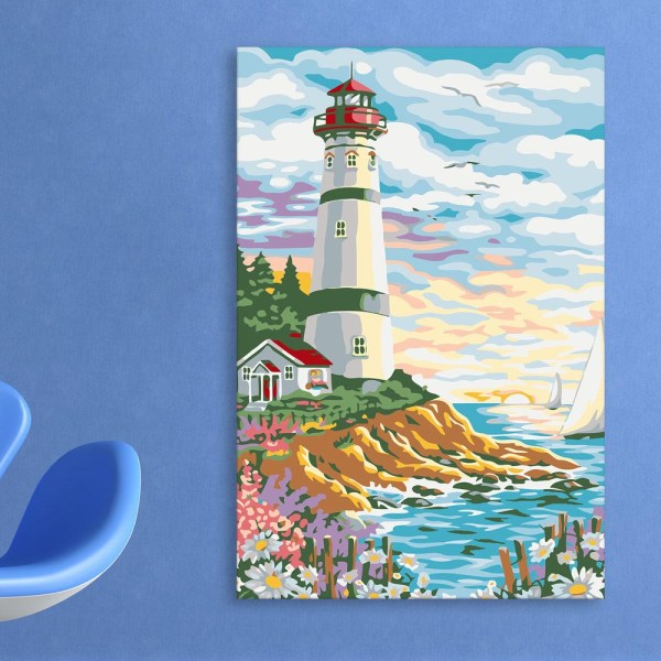 Canvas Painting - Beautiful Lighthouse Art Wall Painting for Living Room