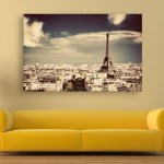 Canvas Painting - Beautiful Eiffel Tower Wall Painting for Living Room
