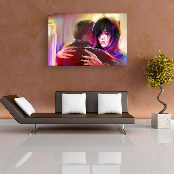 Canvas Painting - Beautiful Couple Love Art Wall Painting for Living Room