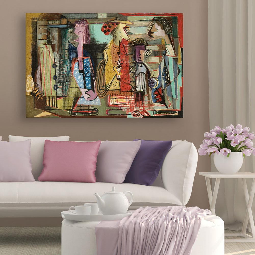 Canvas Painting Modern Contemporary, Modern Art Pictures For Living Room