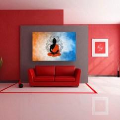 Nice Artwork Living Room Modern Interior Design Photos Canvas Painting Beautiful Buddha Art Wall For
