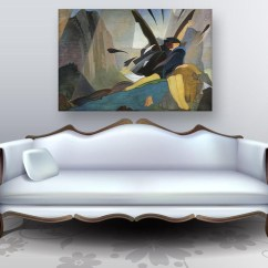 Contemporary Artwork Living Room Swag Curtains For Canvas Painting Modern Art Wall