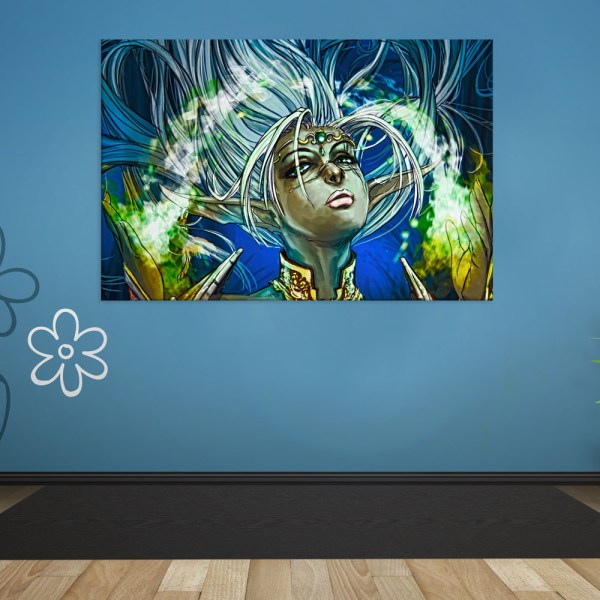 Canvas Painting - Beautiful Girl Illustration Art Wall Painting for Living Room