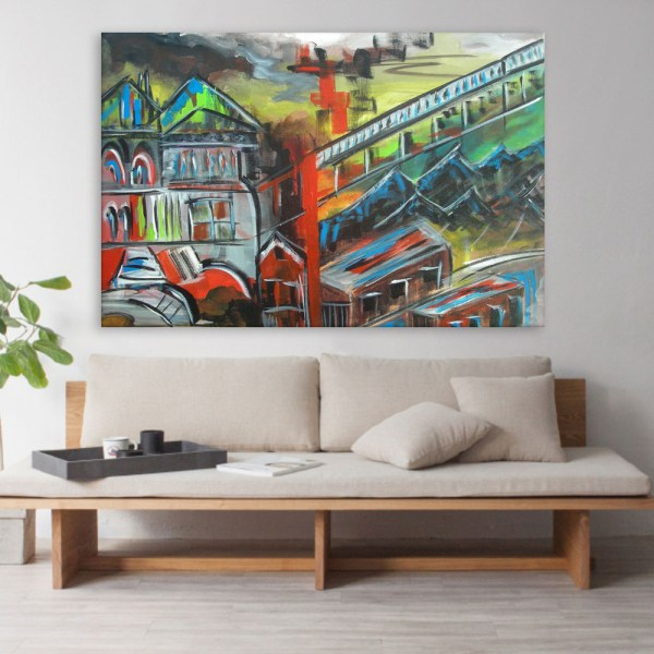 Canvas Painting - Beautiful City Art Wall Painting for Living Room