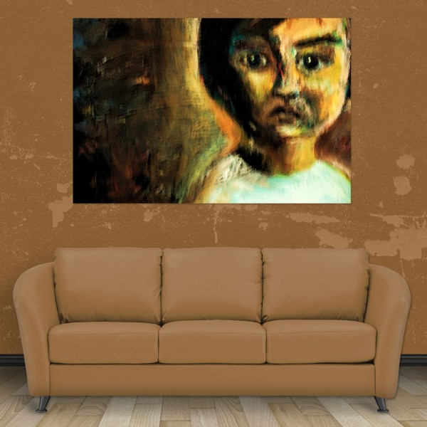 Canvas Painting - Beautiful Girl Watercolor Art Wall Painting for Living Room